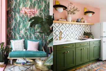 ¿De qué manera decorar el hogar con rosa y verde? ¡Toma nota!