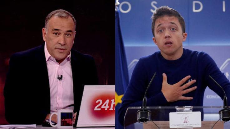 Xabier Fortes (TVE) coge a Íñigo Errejón con el interrogante de los PGE